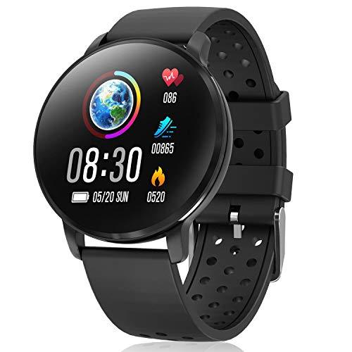 CatShin Reloj Inteligente Mujer,Relojes Inteligentes Hombre,Smartwatch Mujer Hombre Android,IP68 Impermeable de Fitness con Podómetro Pulsómetros Caloría,Pulsera Actividad Inteligente para Android iOS