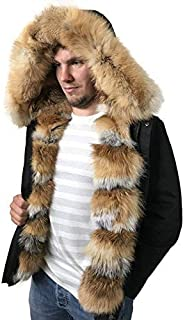 Three in One Men's Parkа Bomber Jacket Natural Fox Fur