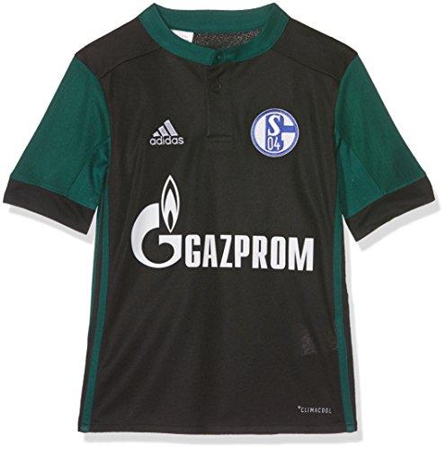 adidas Kinder Schalke 04 Ausweichtrikot, Black/Cgreen, 164