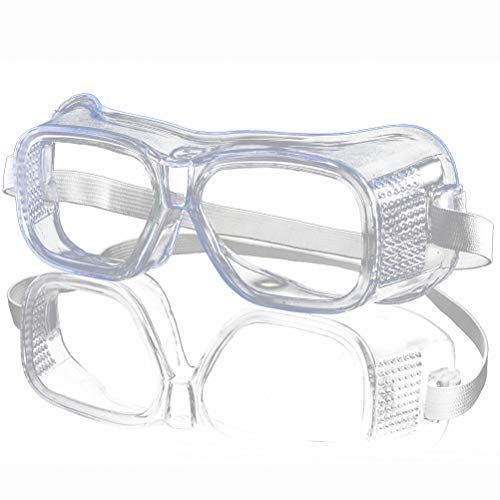 Vivio heldere veiligheidsbril en hygiënische veiligheidsbril anti-condens bescherming, M, Helder.