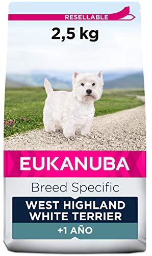 EUKANUBA Breed Specific Alimento seco para perros west highland white terrier adultos,alimento para perros óptimamente adaptado a la raza 2.5 kg ✅