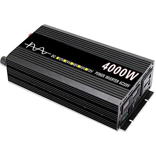 Inversor de Onda sinusoidal Pura de 2000W / 4000W DC 12V / 24V / 48V A AC 230V / 240V Convertidor De Voltaje Inversor De Automóvil Frecuencia De Salida 60HZ para Coche, Caravana, Barco, cámping