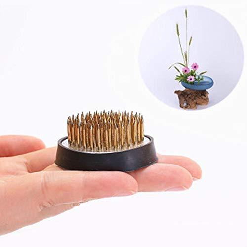 Tammy Yerkes Runder Blumenhalter Ikebana Kenzan Metall-Blumenfrosch mit Gummidichtung Blumenkunst Feste Anordnungswerkzeuge Blumenarrangementsockel für die Inneneinrichtung