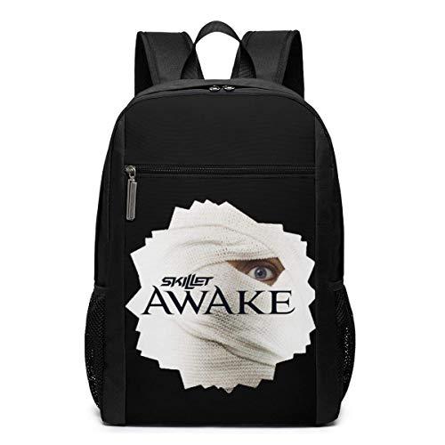 Lawenp Skillet Awake Backpack 17-Zoll-Laptop-Taschen College School Rucksack Casual Daypack für die Reise