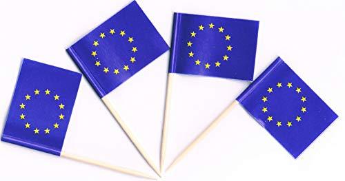 Star Cluster 500x Zahnstocher Fahne   Zahnstocher Flagge   Toothpick Flag   Europa (Flaggen Picker EU)