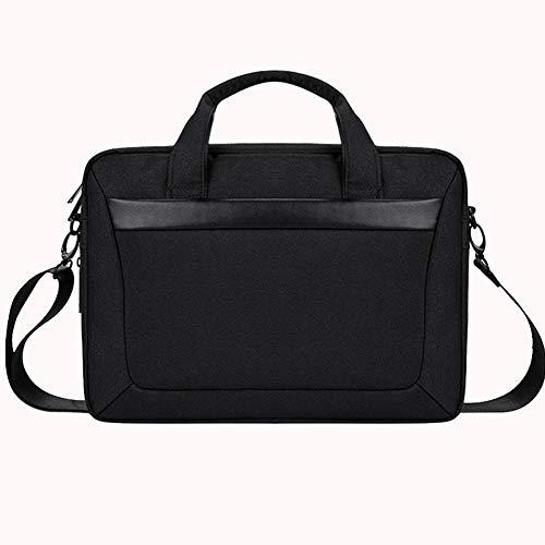 Laptop Tasche 13.3-15.6 Zoll Notebooktasche Aktentasche Tablet Tasche Schulter Umhängetasche Wasserabweisend Satchel Bussiness Laptoptasche für Frauen und Männer,Schwarz,13.3inches