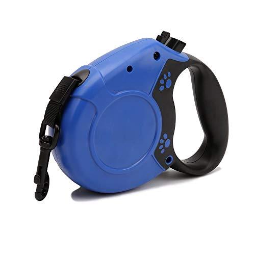 CSMZ Huisdier oprolbare hondenriemen in Grote hondenriemen zijn geschikt for alle soorten huisdieren (Color : Blue, Size : 5M)