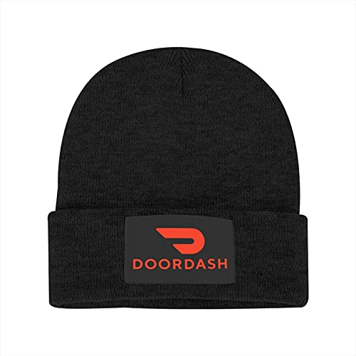 Novelty Black Knitted Caps, Men Women Soft Winter Thermal Warm Hat, No Pilling Acrylic Cuff Outdoors Beanie Hats