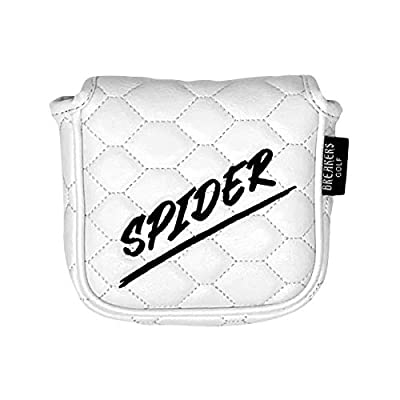 And Etcetera Breakers Golf Mallet Putter Cover Headcover Strong Magnetic Closure Synthetic Leather for Taylormade 2017 Spider Ghost S Tour (White)