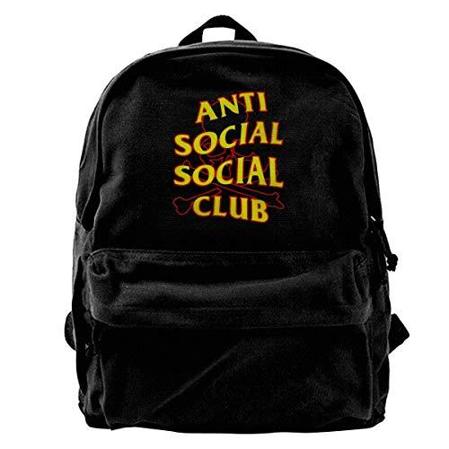 Anti Social Social Club Mochila con cordón Mochila Sport Gym Sackpack 14.2 x 16.9 Inch