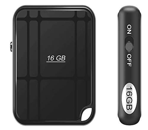 Grabadora de voz espía mini portátil con 16G. Spy Voice Recorder. Micrófono espía portátil recargable por puerto USB y activación por voz.