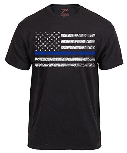 Rothco Thin Blue Line T-Shirt, XL, Black