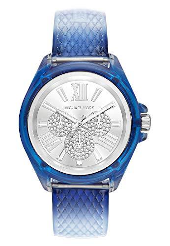 Michael Kors Damen Analog Quarz Uhr mit PU Armband MK6680