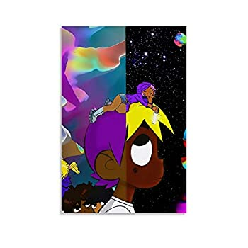 heshunxing Lil Uzi Vert Poster Decorative Painting Canvas Wall Art Living Room Posters Bedroom Painting 12x18inch 30x45cm