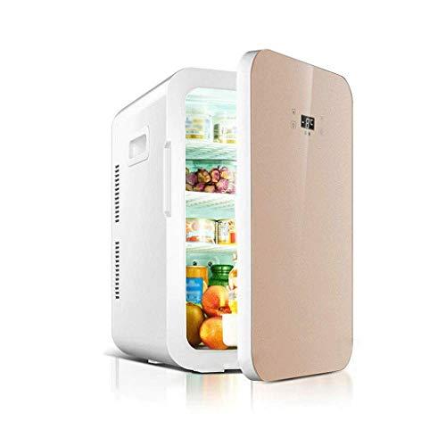 ZJHDX drankenkoeler en koelkast, mini-koelkast met glazen deur, perfect voor bier- of wijn. B