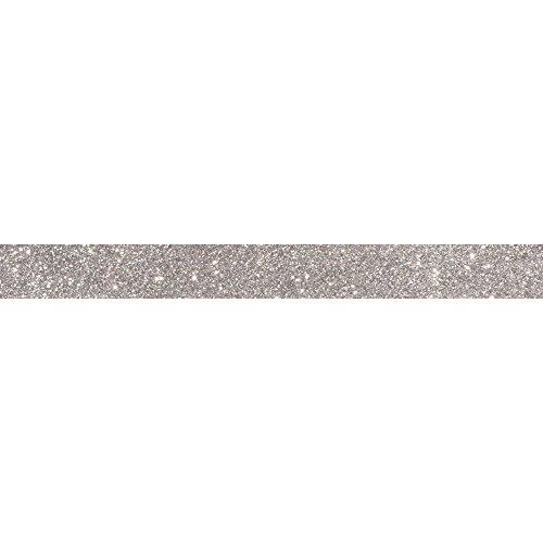 RAYHER 59925606Glitter Tape, 15mm, Rotolo 5m, Argento