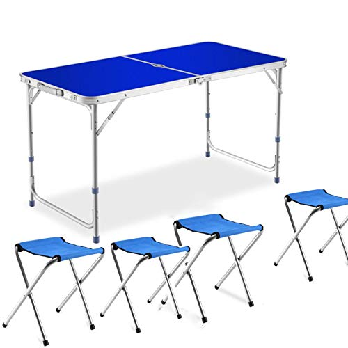 Mesa de picnic plegable para 4 personas con silla Mesa de picnic...
