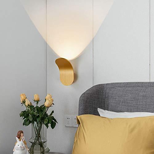 Wylolik LED Wall Lights Modern Indoor Sconces 3000K 6W Wall Lamp, Living Room Wall Sconce Bedroom Bedside lamp Home Decoration Lighting Fixture(Gold)