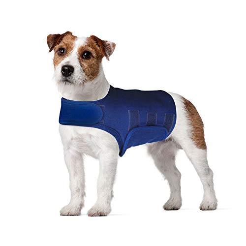 Hothuimin Thunder Camisa para Perro, Perro Ansiedad Chaqueta, Perro Ansiedad Camiseta, Mascota Perro Calming Chaleco para Trueno, Ansiedad y Alivio del Estrés