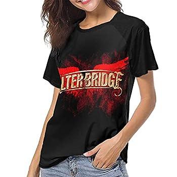 Alter Bridge Logo T-Shirts Female Short Sleeve Baseball Tees O-Neck Tops Black