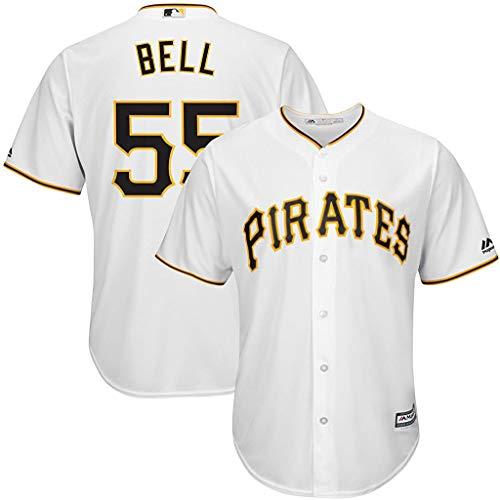 Josh Bell Pittsburgh Pirates White Kids 4-7 Cool Base Home Jersey (7)