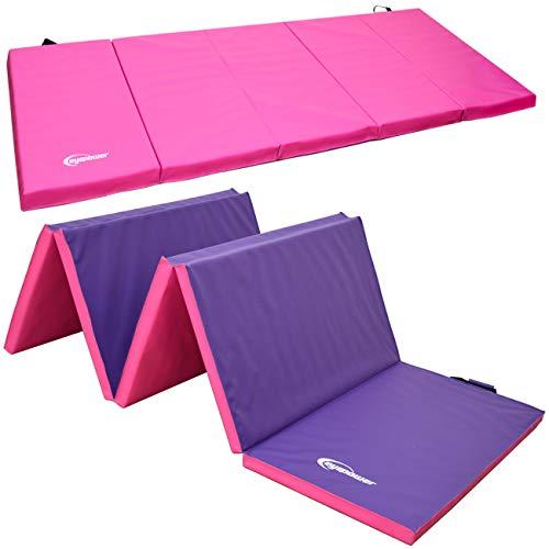 EYEPOWER 300x100 XXL Turnmatte für Zuhause - Klappbar - 5cm Gymnastikmatte - Kinder Weichbodenmatte