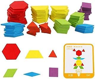 مجموعة لعبة الغاز طاولة تعليمية من الخشب مكونة من 155 قطعة للاطفال، لعبة خشبية للمساعدة في تعلم ونمو الاطفال.