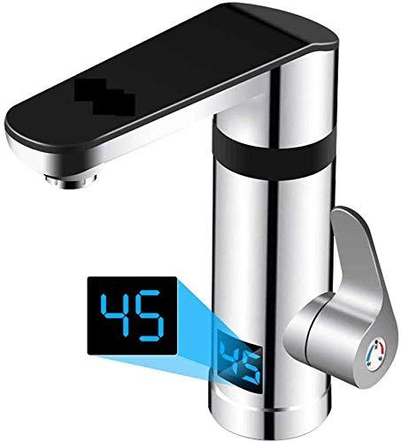 LXYZ Grifo de Agua Caliente eléctrico inmediato, Cocina, baño, frío y Calor, calefacción rápida de Doble Uso, Plateado