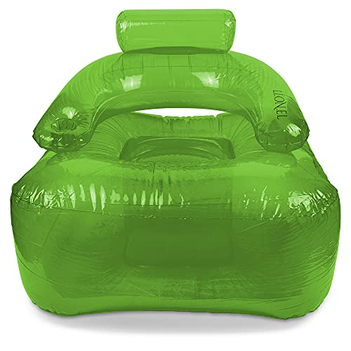 Aufblasbarer Sessel LI.ON.EL (Green) mit Getränkehalter
