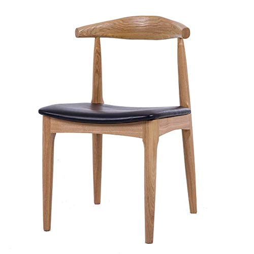 FTFTO Daily Equipment Dining Chair Dining Chairs Wood Armless Chair High Back Chairs W/PU Leather Padded Seat Chairs (Color Size : 48x48x76cm)