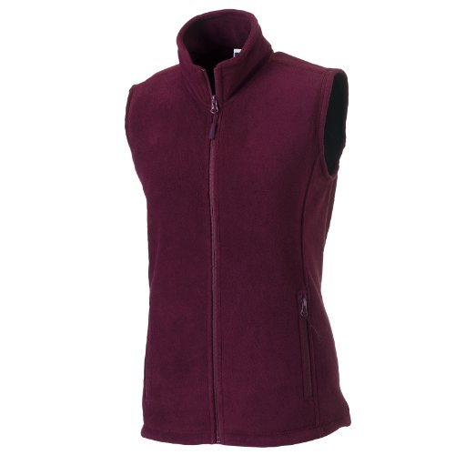 Russell Europe Damen Fleece-Weste / Fleece-Gilet, Anti-Pilling, durchgehender Reißverschluss (2XL) (Burgunderrot)