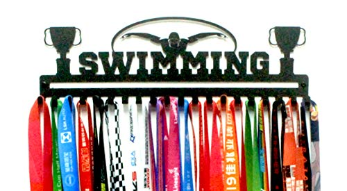 Wall Mount 'Swimming' Sports Medal Hanger
