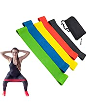 TECHVIDA Resistance Loop Bands, Exercise Bands Resistance Stretch Band for Yoga, Fitness, Crossfit, Stretching, Strength Training, Physical Therapy, Natural Latex Workout Bands, Pilates, Set of 5