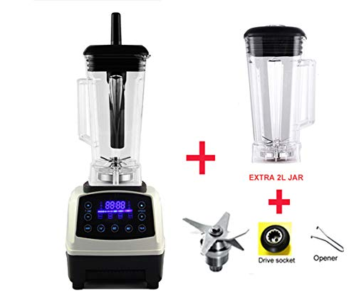 Read About Automatic Digital Smart Timer Program 2200W Heavy Duty Power Blender Mixer Juicer Food Pr...