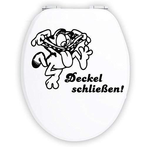 Hellweg Druckerei Wandtattoo in deiner Wunschfarbe WC Aufkleber Deckel schließen Bad Klodeckel Garfield 20x14 cm Wand Aufkleber Sticker