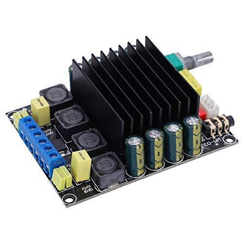 2x100W DC 12‑36V Filtro de ruido TDA7498 Señales de filtro Placa de amplificador de potencia Protección completa Suprime la interferencia electromagnética Ventilador para audio de automóvil