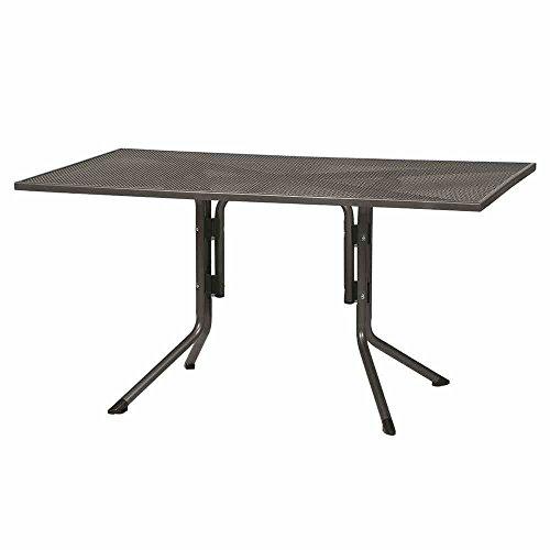Siena Garden Dining Tisch Elda Plus, 140x90x71cm, Gestell: Stahl, pulverbeschichtet in eisengrau, Tischplatte: Streckmetall