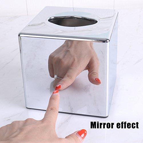 CROWNSTARQI Kosmetiktücher-Box,quadratischen Kosmetikboxen-Spender, Quadrat Taschentuchhalter...