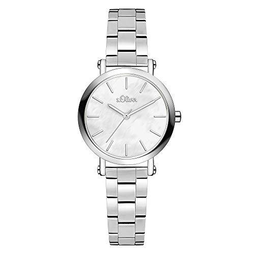 s.Oliver Damen Analog Quarz Uhr mit Edelstahl Armband SO-3810-MQ