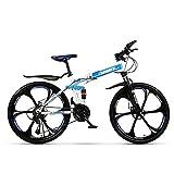ZLZNX 26 Pollici Bicicleta de Montaña Bicicletas City Bike, Freno De Disco Doble Cruiser Bikes para Hombre y Mujer,Azul,21Speed