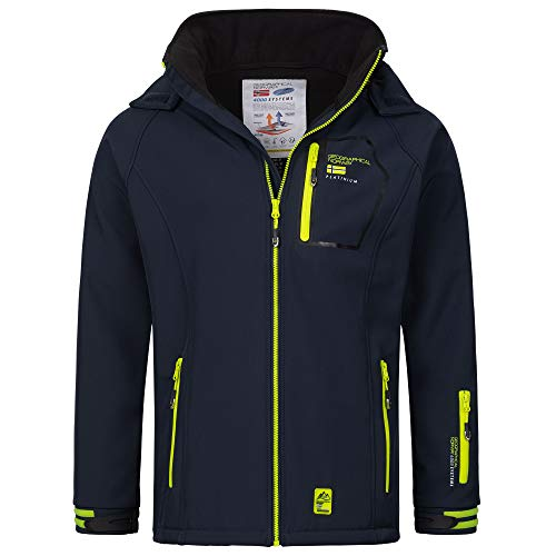 Geographical Norway - Chaqueta impermeable para hombre (softshell) Rizlan Navy L