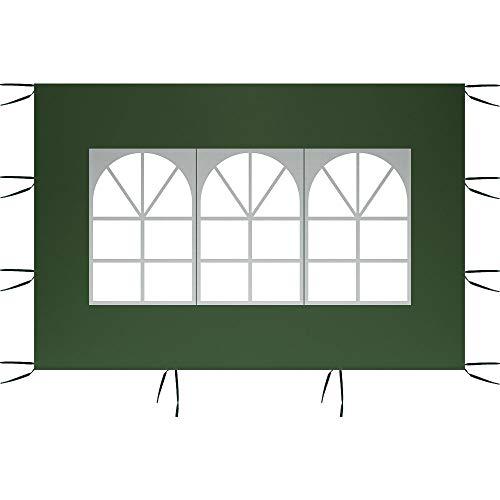 harupink Pannelli Laterali a Baldacchino da 3 m x 2 m, Pannelli Laterali per Tenda, Pannello Laterale di Ricambio, Tenda Gazebo Impermeabile 210D in Tessuto Oxford (Modellazione B, Verde)