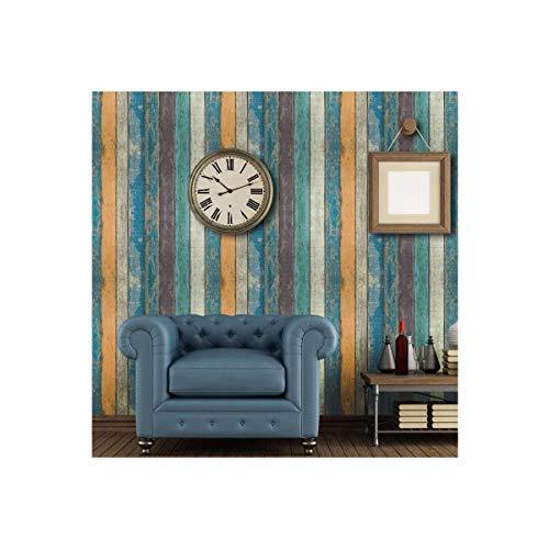 GLOW4U Papier peint autocollant en vinyle style planche de bois rustique pour armoires de cuisine, porte, tiroir, dosseret de comptoir mural 45 x 500 cm