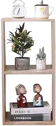 Etnicart Doble cubo para decoración de almacenamiento, librería, estantería de roble 35 x 30 x 70 cm, madera MDF, estantería de diseño, oficina, entrada, salón