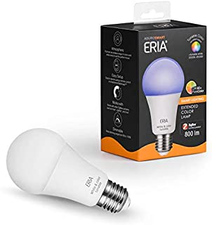ERIA Colors and White A19 60W Equivalent Dimmable CRI 90+ Smart Bulb Works with ERIA/Philips Hue/Alexa/Google Assistant