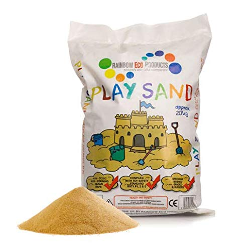Rainbow Eco Play – Play Sand – Clean Children's Safe Non-Toxic for Sandpit 20kg Bag