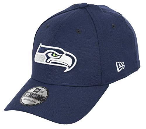 New Era Seattle Seahawks 39thirty Stretch Cap - NFL Core Edition - Navy - M - L