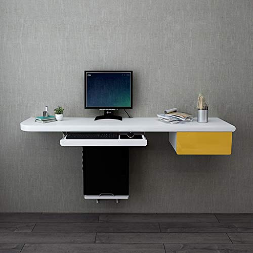 clasificación y comparación Estante de pared de pared para escritorio de computadora con cajones … para casa