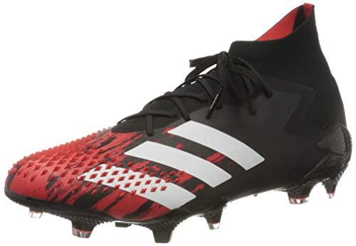 adidas Predator 20.1 FG, Scarpe da Calcio Unisex-Adulto, Core Black/Ftwr White/Active Red, 42 2/3 EU