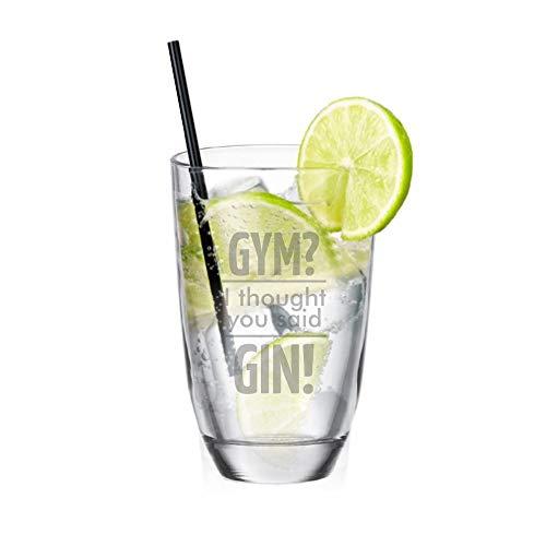 4you Design Gin-Glas Gym? I Thought You Said Gin! - Gin Tonic Glas - Longdrinkglas - hochwertig graviert